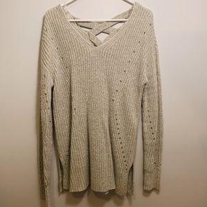 green criss cross sweater